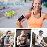 Evrensel Spor Su Geçirmez Kol Bandı 6 '' altında Iphone 11 Pro Max Samsung S20 Cep Telefonu Kol Bandı Açık Koşu Koşu Spor Kol Bandı