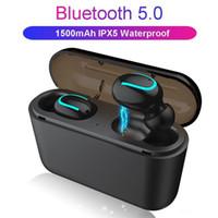 Q32 TWS 블루투스 1500mAh 충전기되는 PowerBank 헤드셋 5.0 무선 이어폰 이어폰 스포츠 미니 헤드폰 모든 전화를위한 MQ10