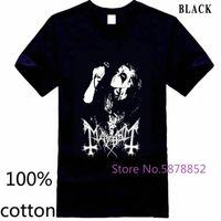 Shirt T Shirt MAYHEM Morto norvegese Black Metal Morbid Euronymous Beherit Darkthrone Nage naturale Stampato Mens T delle parti superiori dei T Camicia E e5LI #