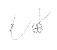 Fahmi 925 silver charm fyra-bladklöver temperament retro mode damer bröllop halsband smycken