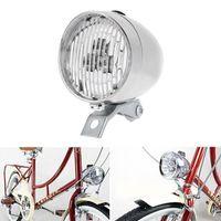 Aviso retro da bicicleta do vintage 3LED Frente Luz Farol Segurança Night Light Decoração bicicleta