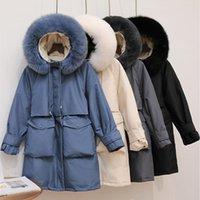 Kadın Aşağı Parkas Sedutmo Kış Ördek Ceketler Kadın Kürk Kapüşonlu Boy Kalın Sıcak Ceket Sonbahar Rahat Tunik Kirpi Ceket ED1111
