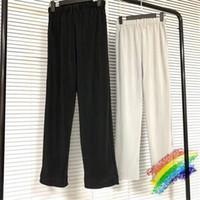 Plisada pantalón Hombres Mujeres 1 de alta calidad del color sólido cordón Joggers Streetwear pantalones pantalones