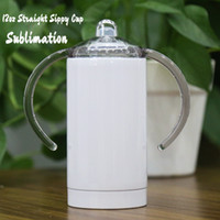 DIY Sublimation 12oz Straight tumbler with Handle Stainless ...