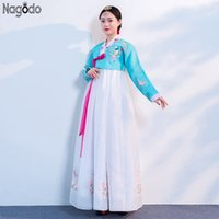 Roupas étnicas Nagodo Coreano Hanbok 2021 Fase Tradicional Estágio Antigo Tribunal Vestidos Diários Performance Cosplay Dress