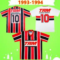 1993 1994 Sao Paulo Retro Soccer Jerseys Schwarz Rot Weiß 93 94 Klassische Vintage Home und Away Football Hemd Thailändische Qualität