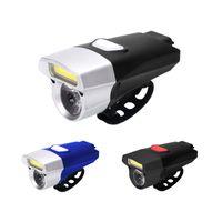 자전거 조명 COB 헤드 라이트 방수 슈퍼 밝은 자전거 2 모드 배터리 Bycicle Farol Accessories2021