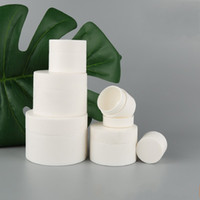 متجمد الأبيض كريم صندوق زجاجة فارغة قضية منفصلة تعبئة مستحضرات التجميل الجرار حاوية بلاستيكية اسطوانية الشفاه واضح جرة أداة الجمال 2 45xb7 B2
