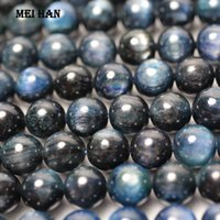 Meihan wholesale1 strand) A+ 8mm blue Kyanite smooth round s...