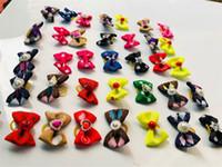 Cabelo Hairpin Belt Bow Speckle Cat Dog Elásticos animal Grampos Pet Dogs Acessórios Suprimentos Decoração Ornamentos Muti Cor 0 41lj C2