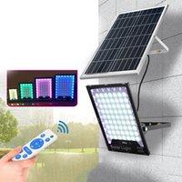 LED 태양 광 조명 홍수 빛 RGB 색상 야외 투광 분위기 램프를 IP65 방수 태양 광 가로등 60W-400W 변경