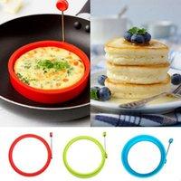 Neue Silikon Spiegelei Pancake Ring Omelette Spiegelei runde Former Eier Form für Kochen Frühstück Bratpfanne Backofen Küche