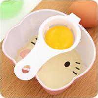 Accessori da cucina lungo manico in plastica Perdite Isolamento Uovo bianco strumento tuorlo d'uovo separatore del bianco d'uovo di filtrazione uova divisori DH0059