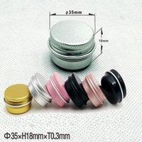 500pcs / lot 15ml 15g scatola di immagazzinaggio del metallo 10g Alluminio lattine 10ml Vasi Lip Balm contenitori vuoti Vasi vite superiore Lattine barattolo 6 colori