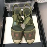 Femininos sandálias de grife de moda verão letras bordados sapatos pescador plataforma informal de cânhamo corda tecida baotou sandálias de grande porte 35-41