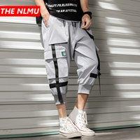 Erkekler Hip Hop Buzağı uzunlukta Pant Kargo Pantolon 2020 Yaz Kurdele Streetwear Kısa Koşucular Pantolon Erkekler Tasarımcı 3/4 Capri WG891
