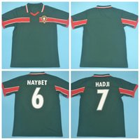 1998 Vinatge المغرب ريترو كرة القدم جيرسي 7 HADJI 10 OUAKILI 14 بصير 15 ABRAMI 13 NEQROUZ النيبت MAROC EL HADRIOUI كرة القدم أطقم قميص