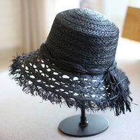 العصرية الجوف نمط المرأة سترو قبعة عطلة عطلة أحدث lafite سيدة أنيقة القبعات الصيف شخصية سحر الفتيات شاطئ القبعات LJJA4320