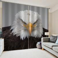 ستائر الديكور الطيور الكبيرة ستائر النافذة تعتيم فاخر 3D الستائر مجموعة لغرفة نوم غرفة المعيشة