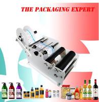 Máquina de rotulagem manual para a garrafa redonda adesivo adesivo rolo Labelete Labelete Máquina de embalagem de máquina de rotulagem pequena