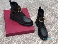 Moda Tasarımı Casual Yüksek Üst Düşük Topuk Espadrilles Martin Boots Dantel Ayakkabı Motosiklet Boots Sneakers Bayan Deri Ayakkabı 35-41 Womens