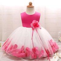 Kızın Elbiseleri Çiçek Kız Elbise Düğün Bebek Için 1-10 Yıl Doğum Günü Kıyafet Çocuk Kız İlk Communion Çocuklar Parti Giyim