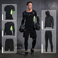 Запугивает наборы Vansydical Sports Sours Suits Мужская трексуивка тренажерный зал Костюм фитнес сжатия колготки тренировки спортивная пробежка