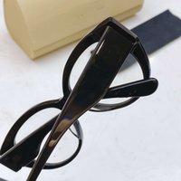 56MM النظارات الشمسية شفاف الإطار عدسة عظم ظهر السلحفاة الوردي الأحمر البيضاوي نظارات الأزرق نمط حملق عين القط نظارات الأصل تغليف صندوق