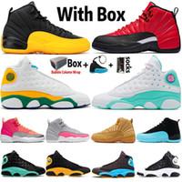2020 جامعة Jumpman الذهب 12 12S هوت لكمة الرجال أحذية كرة السلة القطة السوداء 13 13S حلق الأخضر إمرأة مصمم الرياضة حذاء رياضة حجم 36-47