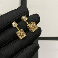 Novelty Square Cubic Earrings Classic Letter Fashion Earring...
