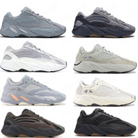 Nouvelle inertie 700 Wave Runner Mens Femmes Designer Sneakers Nouvel hôpital Bleu 700 V2 Magnet Tephra Meilleure qualité Kanye West Sport Sport chaussures avec boîte