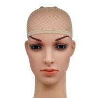 Görünmez Naylon Saç Nets ile Elastik Kadınlar Erkekler Bayanlar Saç Peruk Çorap Cap Dokuma Mesh Net Fishnet Bej Siyah 200 adet ücretsiz DHL