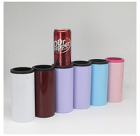 NEW 12oz Skinny Can Cooler 12oz Stainless Steel beer Cola bo...