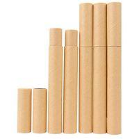 Siyah Kraft Kağıt Tütsü Tüp Tütsü Varil Küçük Saklama Kutusu için Kalem Joss Sopa için Uygun Taşıma 20.7x2.1 cm
