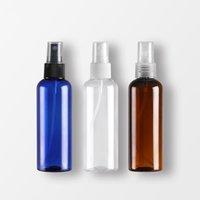 100ml Boş Plastik Makyaj Seyahat Püskürtme Şişesi Doldurulabilir Parfüm Konteyner Yuvarlak Omuz Sprey Şişeleri