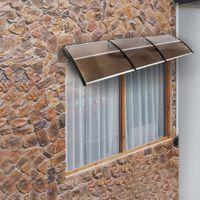 Board transparent PC Board Outdoor Shade Terrasse Soleil Façade Canopée couverte Bandoulière Plastique Support Pluvial Canopys
