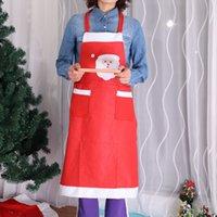 Cepler Kumaş Mutfak Aksesuarları Ev Pişirme Temizleme yemeği Noel Partisi Dekorasyon DH0296 ile Noel Baba için Noel Önlük