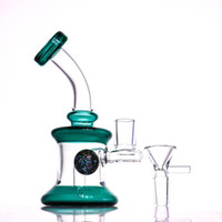 bong 7 inches Water Pipes builtin perc blue grey green Heady...