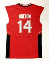 Navio de nós #wildcats 14 Troy Bolton Basquete Jersey High School College Jerseys Mens Vintage Costurado Vermelho tamanho S-XXXL