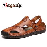 New Men Leather Sandals Summer Male Shoes Beach Sandals Man ...