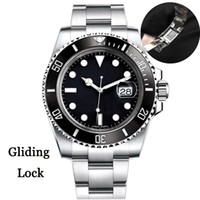 Gliding Blocco Top Mens Watch lunetta in ceramica 40 millimetri Sapphire meccanici automatici 2813 del movimento in acciaio inox luminosi Orologi Impermeabili