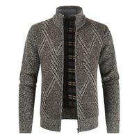 Erkek kazak negizber 2021 sonbahar kış erkek kazak rahat standı yaka kalın hırka erkekler moda sıcak palto