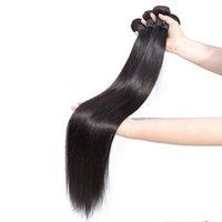 Dilys Длинная прямая водяная волна kinky кудрявая яки человеческие волосы пучки бразильские человеческие волосы уцингистыми волосами волосы 30-38 дюймов