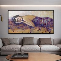 Europe Style Sleeping Lady Canvas Oil Painting Dropshipping ...