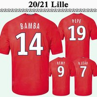 20 21 LOSC Lille Mens Soccer Jerseys New OSIMHEN R. SANCHES J. REMY IKONE Accueil Football Shirt YAZICI BAMBA GABRIEL Uniformes à manches courtes