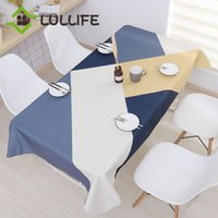 Nordic Linen Table Cloth Rectangular Geometric Tablecloth Wa...