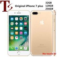 تم تجديده الأصلي Apple iPhone 7 Plus 5.5 بوصة لا بصمة IOS 10 رباعية النواة 3 جيجابايت RAM 32/128 / 256GB ROM 12MP الهاتف غير مقفلة 4G LTE الهاتف