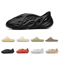 Slipper slides slide Stock X Cheap Foam runner kanye west clog sandal triple black white fashion slipper women mens tainers designer beach sandals slip-on shoes
