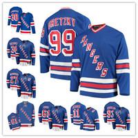 NUEVA YORK HENRIK LUNDQVIST Chris Kreider Mats Zuccarello Rangers Fanáticos Fanáticos Brecha Breakaway Jersey Hockey Jersey - Royal