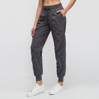 L-35 Pantalon de danse de Yoga Slim était Pantalon de yoga mince avec poches Sport Fitness Pantalons Outdoor Fashion Lady desserrées Pantalon droit